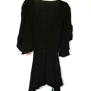 Free People Black Cora Dress. Size Medium.